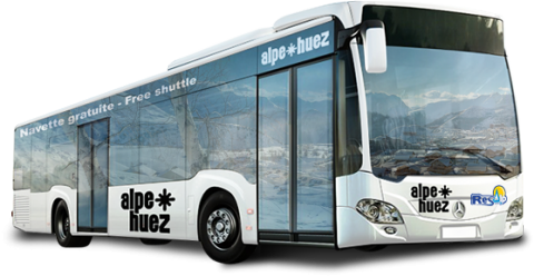 Bus Resalp at Alpes d'Huez